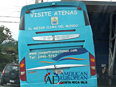 Atenas best climate advertising on bus