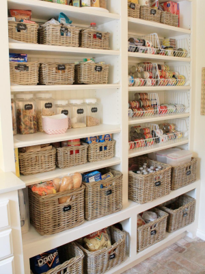 Wicker baskets in your Costa Rican kitchen cabinetry
